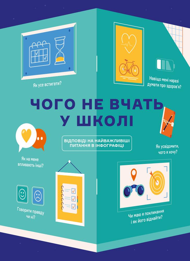 Чого не вчать у школі. Відповіді на найважливіші питання в інфографіці (українською мовою)