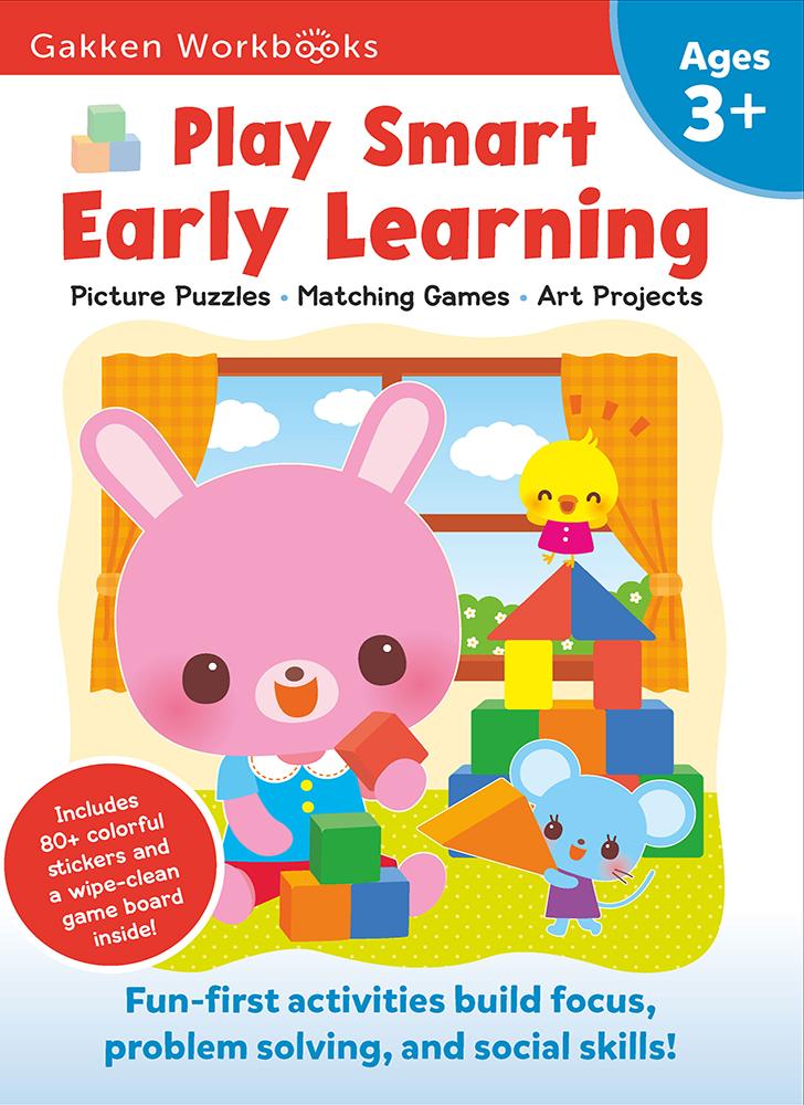 Gakken. Умные игры. Раннее развитие. 3–5 лет + наклейки и многоразовые страницы для рисования