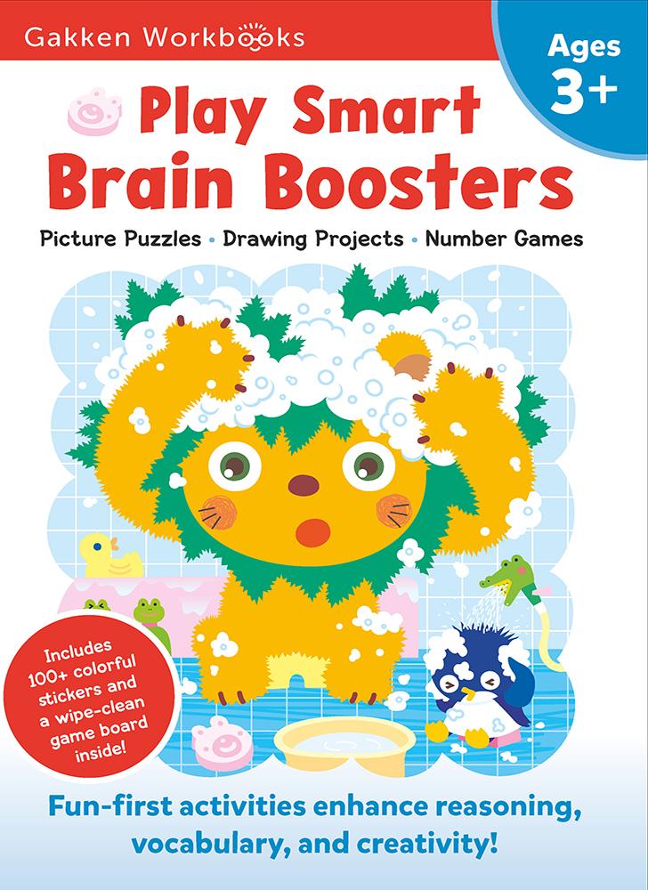 Gakken. Розумні ігри. Розвиток мислення. 3–5 років + наліпки і багаторазові сторінки для малювання