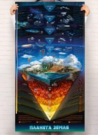 Умный плакат «Планета Земля» (на украинском языке)